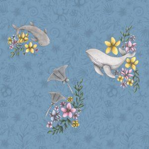carta-da-parati-mare-bambini-aquatica-flower-ambientha-680x680